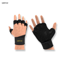 Load image into Gallery viewer, LISTER® Ventilated Weight Lifting/Cross Fit Sports Gloves with Built-In Wrist Wraps, Full Palm Protection & Extra Grip. Inspected in Singapore