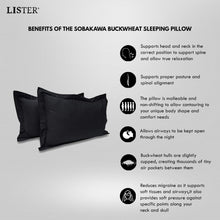 Load image into Gallery viewer, LISTER® Organic Natural Superior Tartary Sobakawa Buckwheat Sleeping Pillow Inspected in Singapore