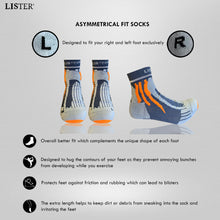 Load image into Gallery viewer, LISTER® Premium Sport Socks With Strong Cushion Support Anti -Odour Inspected in Singapore