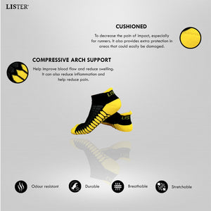 LISTER® Premium Sport Socks With Strong Cushion Support Anti -Odour Inspected in Singapore
