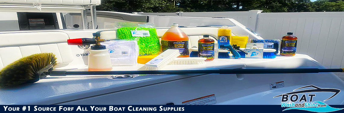Supplies to Clean and Detail Boats