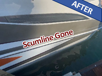 Scum and algae lineAfterBoat Wash and Shine