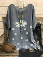 Gray Floral Casual Shift Shirts & Tops