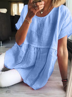 Linen Loose Short-Sleeved Top