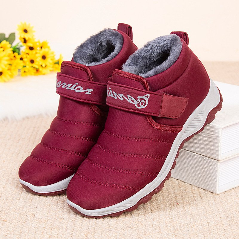 Women Winter Comfy Waterproof Cloth Flat Ankle Boots