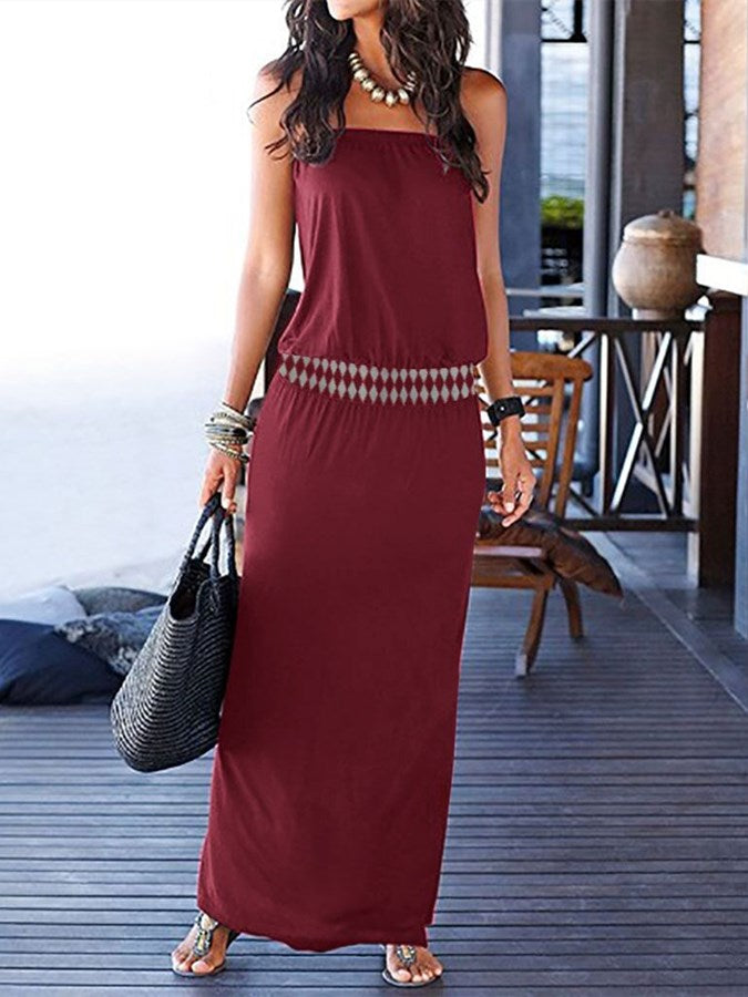 Cold Shoulder Bandeau Dresses
