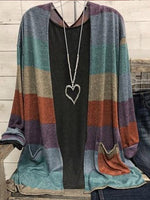 Color Long Sleeve Casual Cardigan