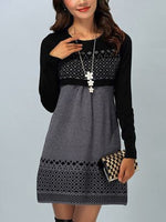 Printed Casual A-Line Long Sleeve Dresses