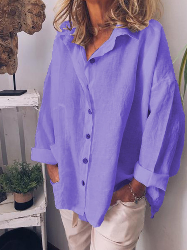 Women Casual Loose Shirt Tops Tunic Blouse