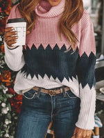 Knitted Long Sleeve Holiday Shift Sweater