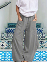 Women Loose Solid  Casual  Pants Baggy trousers