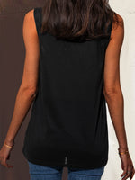 Sleeveless Cotton-Blend Shirts & Tops