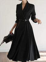 Black V Neck Solid Elegant Wedding & Bridal Party Dresses