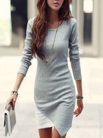 Sheath Casual Crew Neck Dresses