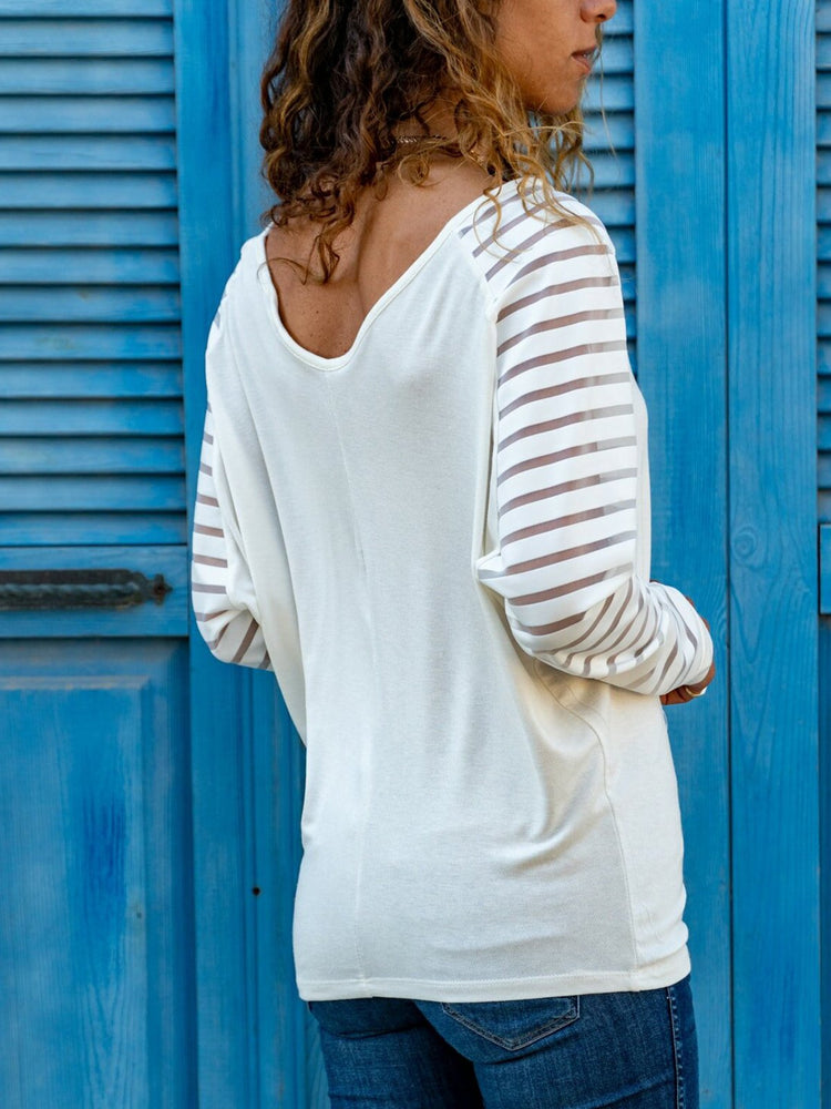 White V Neck Shift Casual Solid Shirts & Tops