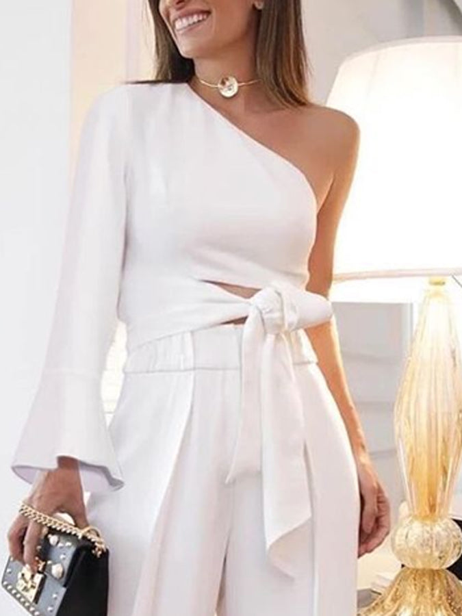 White A-Line Cocktail One-Pieces