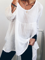 Solid Casual Long Sleeve Shirts & Tops