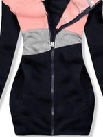 Pink Cotton-Blend Casual Outerwear