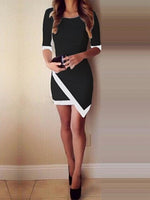 Black Cocktail Crew Neck Dresses