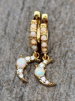 Golden Alloy Vintage Earrings