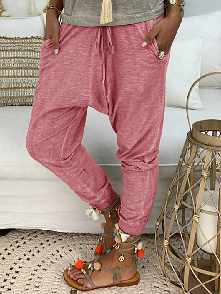 Pockets Casual Plus Size Pants