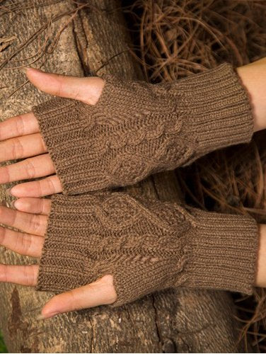 Acrylic Knitted Casual Gloves & Mittens