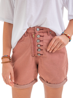 Button Down Zipper Plus Sizee Shorts Pants