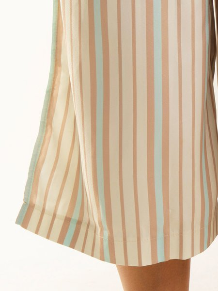 Apricot Striped Holiday Pants
