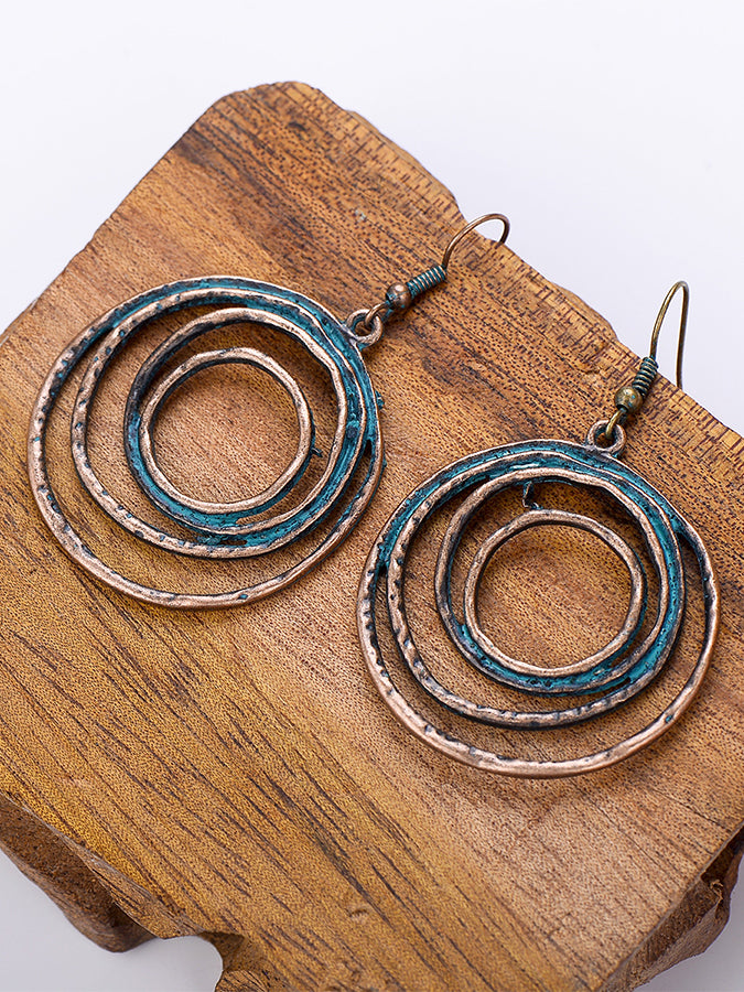 Black Alloy Plain Earrings