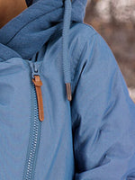 Blue Shift Long Sleeve Paneled Hoodie Outerwear