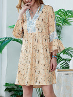 V Neck Women Dresses Date Cotton Dresses