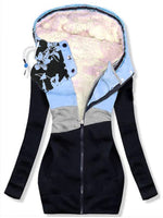 Long Sleeve Hoodie Cotton-Blend Casual Outerwear