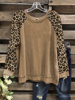 Long Sleeve Vintage Round Neck Cotton-Blend Shirts & Tops