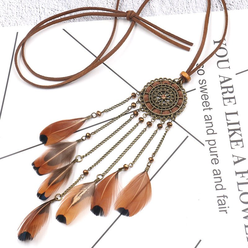 Coffee Boho Vintage Necklace