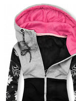 Women Casual Pockets Hoodie Jacket