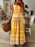 Bohemian loose casual large size dress