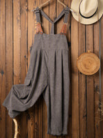 Light Gray Stripes Casual Cotton-Blend One-Pieces
