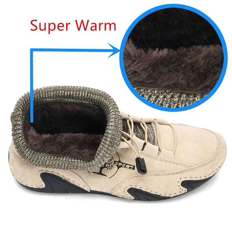 Women Winter Fur Lined Warm Flat Ankle Boots