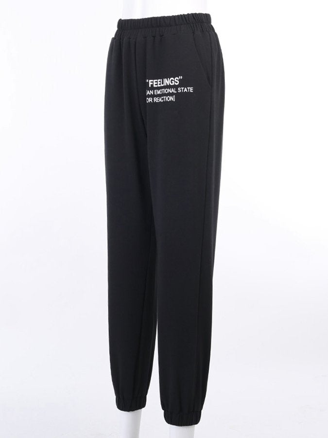 Shift Letter  Sports Pants