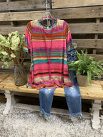 Multicolor Cotton Casual Crew Neck Shirt & Top