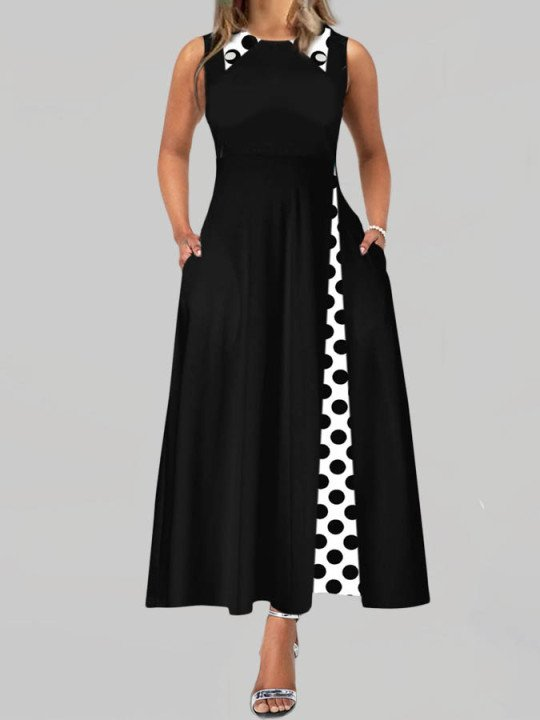 Black Shirt Collar A-Line Sweet Cotton-Blend Dresses