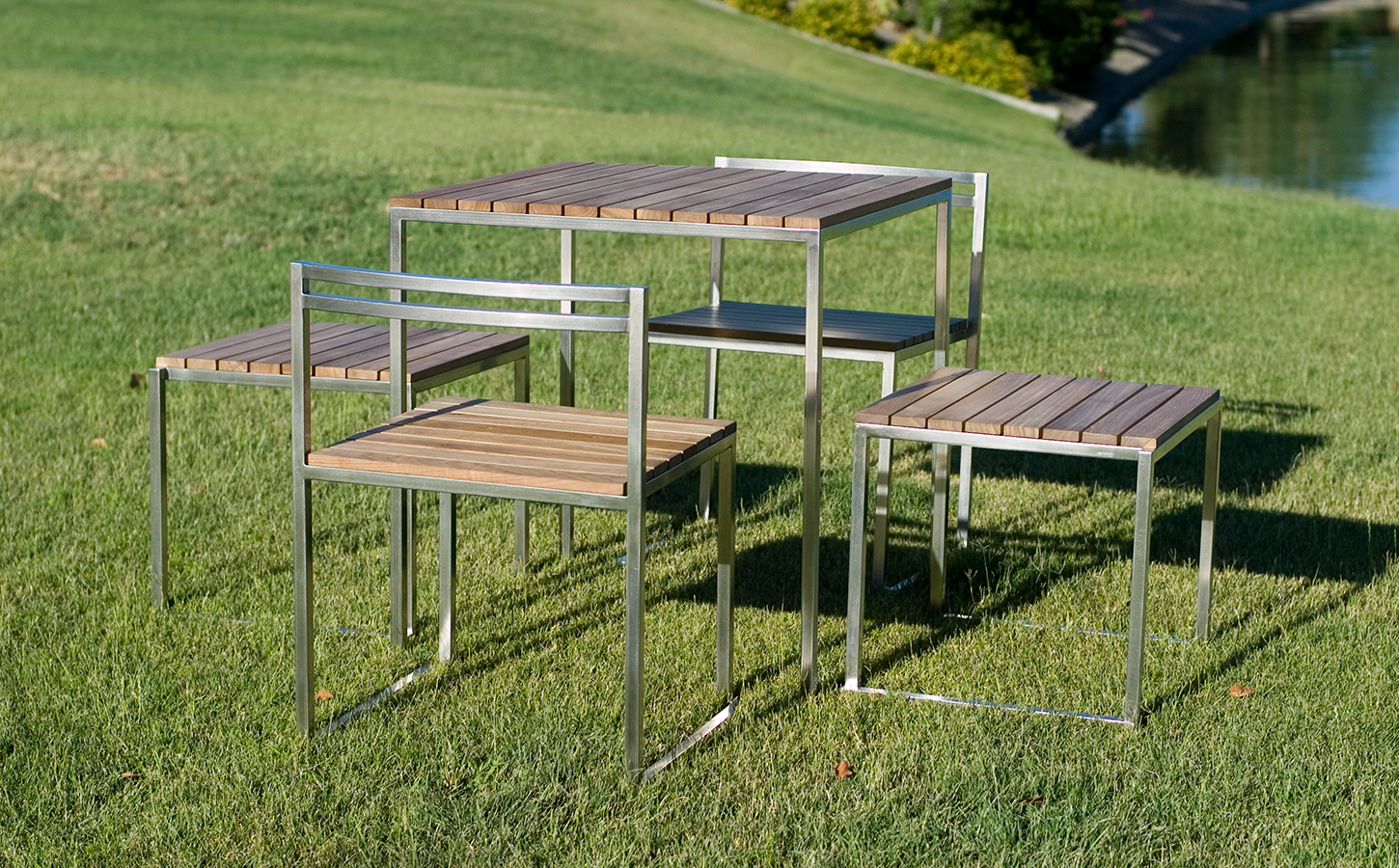 Moby Table, Stool, and Chair Set