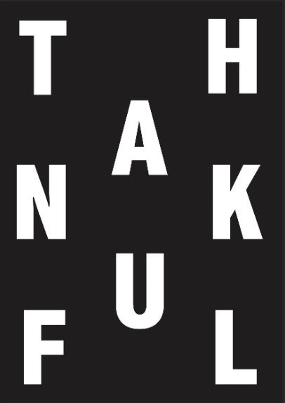 Thankful Typography Print