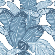 Load image into Gallery viewer, Feuilles De Luxe Bleu Wallpaper
