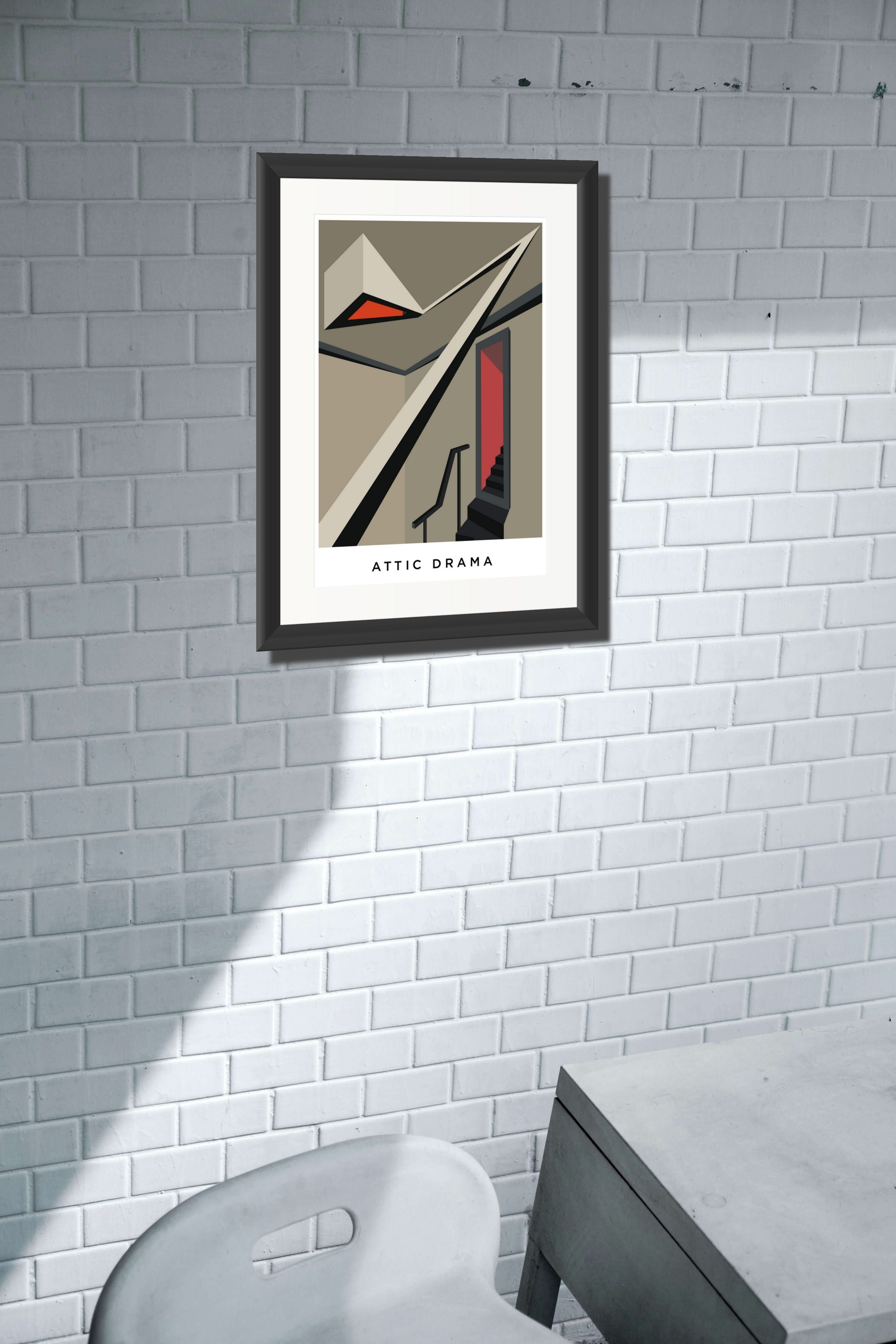 Attic Drama. Limited Edition Giclee Print