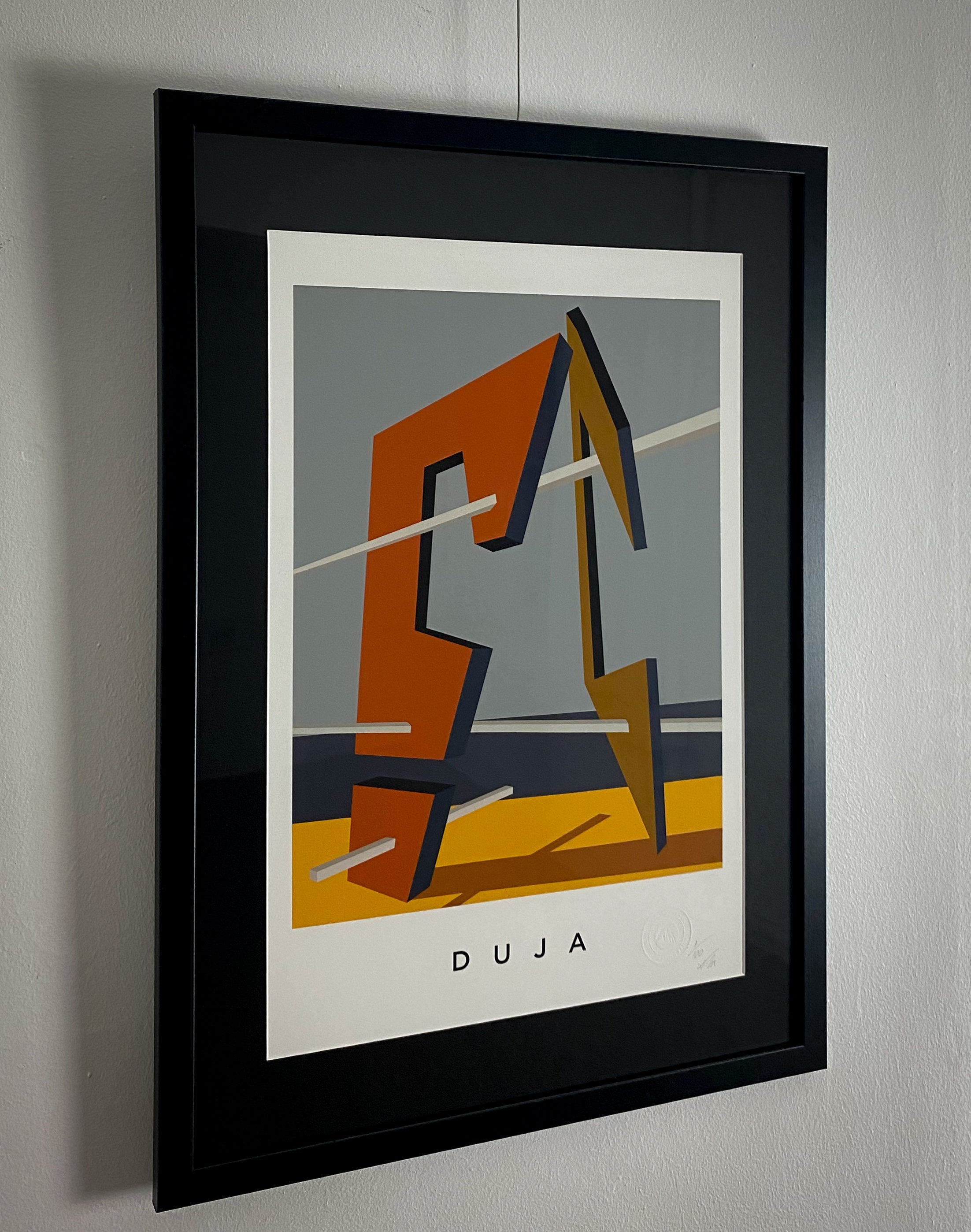 DUJA.  A2 Framed, Limited Edition Giclee Print