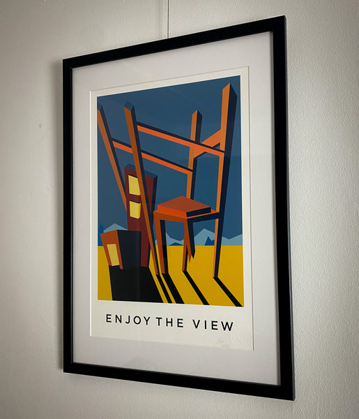 Title: ENJOY THE VIEW .  A2 Framed, Limited Edition Giclee Print