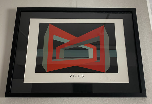 Title: 21-US.  A2 Framed, Limited Edition Giclee Print