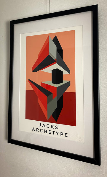 Title: JACKS ARCHETYPE .  A2 Framed, Limited Edition Giclee Print