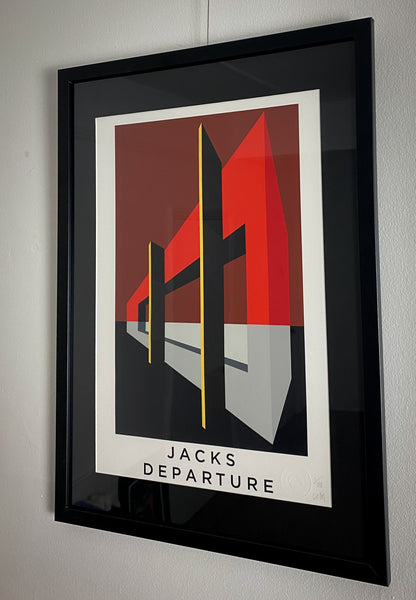 Title: JACKS DEPARTURE .  A2 Framed, Limited Edition Giclee Print